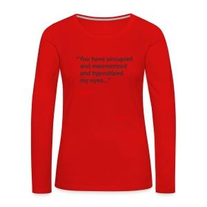 Mesmerized by Ruben - Dame premium T-shirt med lange ærmer