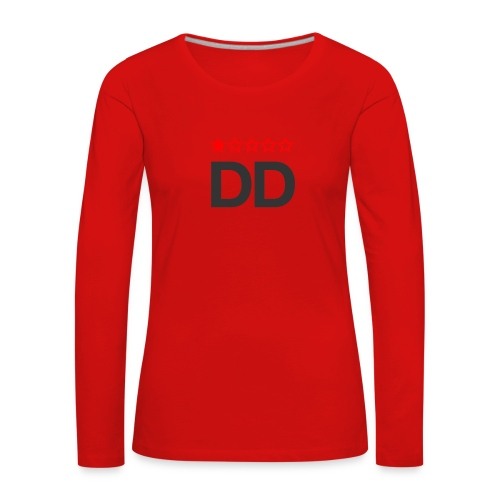 Dårligdommerne simpelt logo - Dame premium T-shirt med lange ærmer