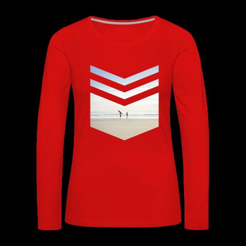 Surfing Beach - Frauen Premium Langarmshirt