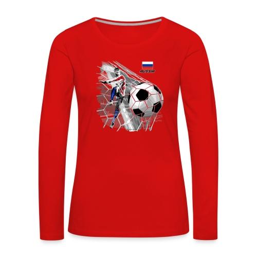 GP22F-04 RUSSIAN FOOTBALL TEXTILES AND GIFTS - Naisten premium pitkähihainen t-paita
