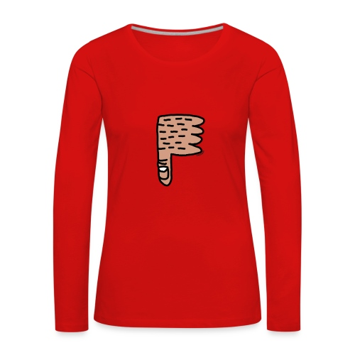 Thumb Down by Cheslo - Frauen Premium Langarmshirt