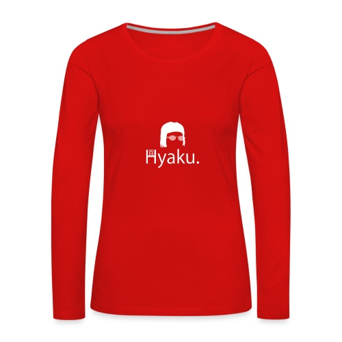 Hyaku White - Premium langermet T-skjorte for kvinner