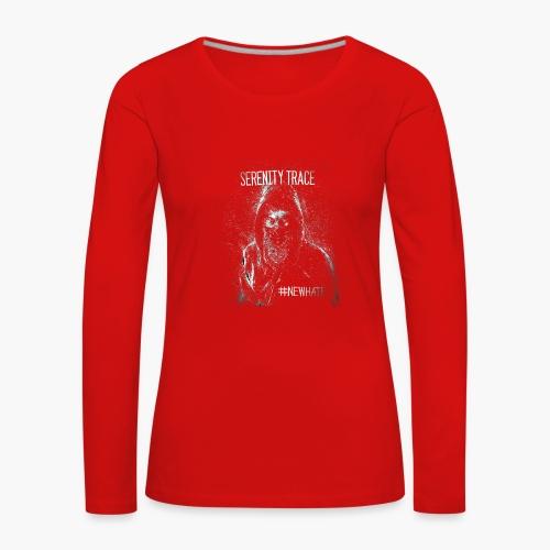 #NewHate Cover art - Premium langermet T-skjorte for kvinner