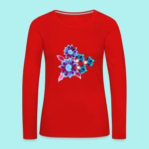 Hypnotic flowers - T-shirt manches longues Premium Femme