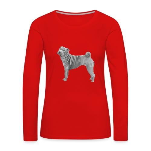 shar pei - Dame premium T-shirt med lange ærmer