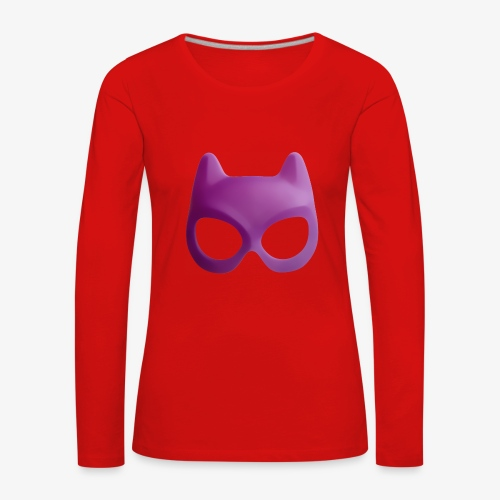 Bat Mask - Koszulka damska Premium z długim rękawem