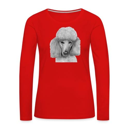 storpudel abrikos - Dame premium T-shirt med lange ærmer