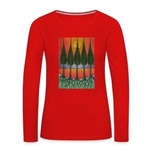 Czerwony Zachód Słońca - Koszulka damska Premium z długim rękawem