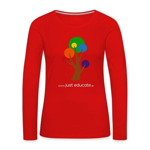 Just Educate.ie - Women's Premium Longsleeve Shirt