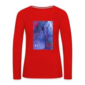 Forest Flower - Koszulka damska Premium z długim rękawem