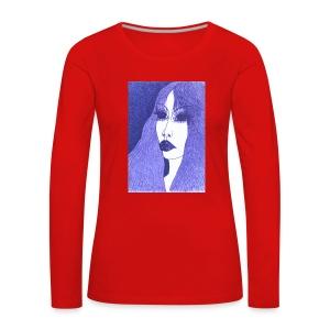 Blue - Koszulka damska Premium z długim rękawem
