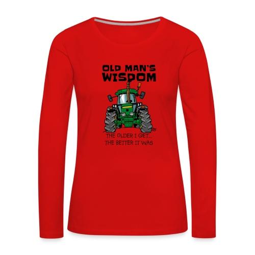 0169 oldmanswisdom JD4050 - Vrouwen Premium shirt met lange mouwen