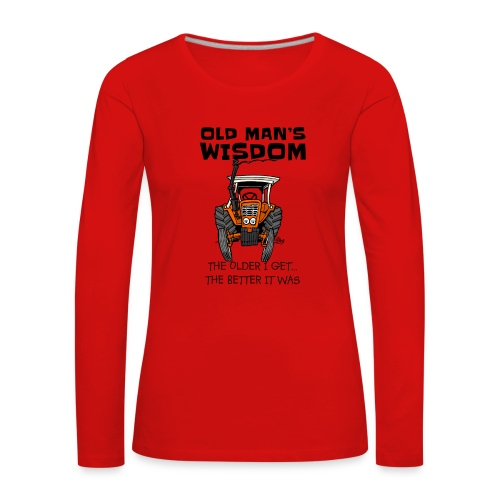 0093 oldmanswisdom belarus - Vrouwen Premium shirt met lange mouwen
