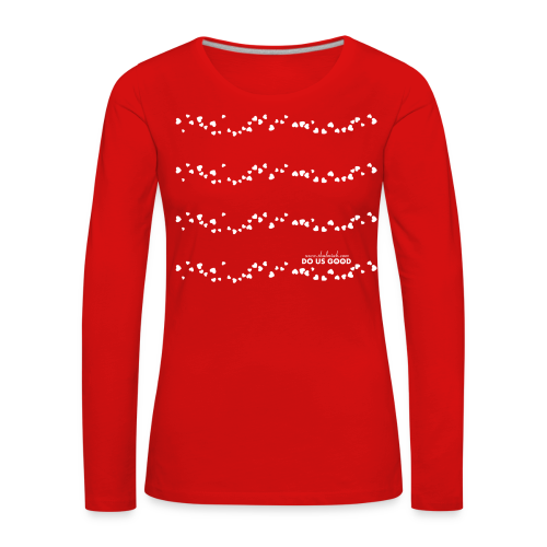 TWEET HEARTS - Naisten premium pitkähihainen t-paita