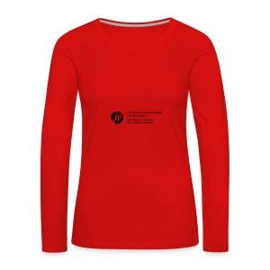 Logo_SW - Frauen Premium Langarmshirt
