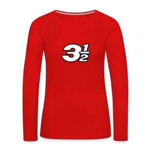 Three and a Half Logo - Women's Premium Longsleeve Shirt
