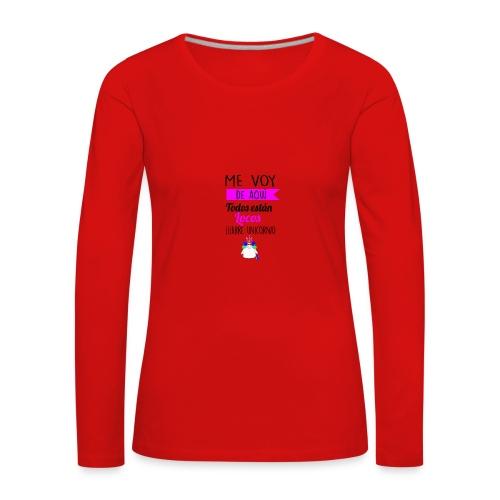 Me de aqui - Camiseta de manga larga premium mujer