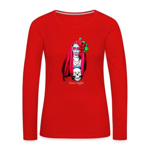 Catrina I love night - Camiseta de manga larga premium mujer