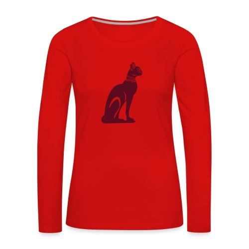 Altägyptische Katze BASTET - Frauen Premium Langarmshirt