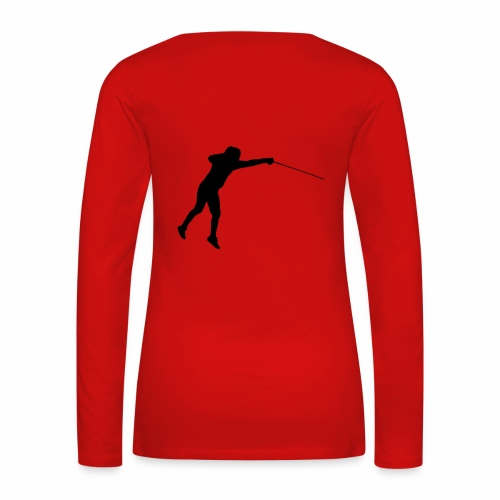 Jumping Fencer - Frauen Premium Langarmshirt