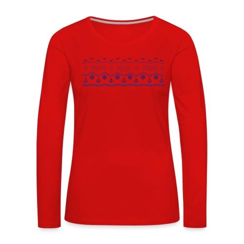 Muster Nordisch Maritim - Frauen Premium Langarmshirt