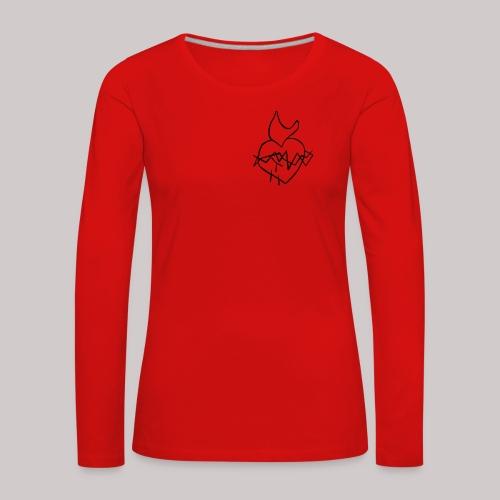 Sagrado Corazón de Jesús - Camiseta de manga larga premium mujer