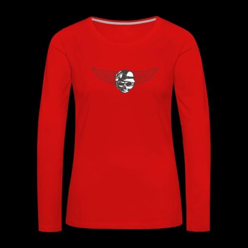 Biker skull - Women's Premium Longsleeve Shirt
