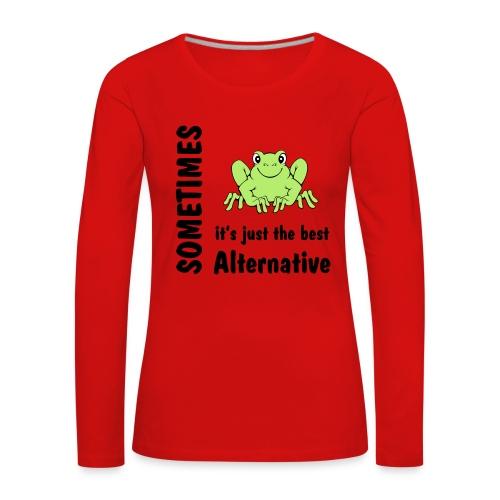 Frosch - Frauen Premium Langarmshirt