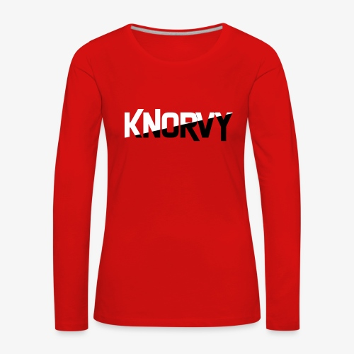KNORVY - Vrouwen Premium shirt met lange mouwen