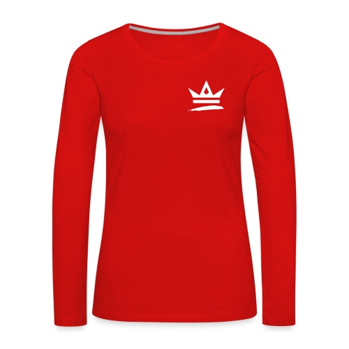 Royal Apparel Logo White - Women's Premium Longsleeve Shirt