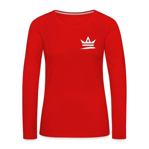 Royal Apparel Logo White - Women's Premium Longsleeve Shirt