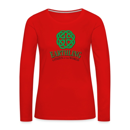 Earthling - Citizen of the World - Långärmad premium-T-shirt dam