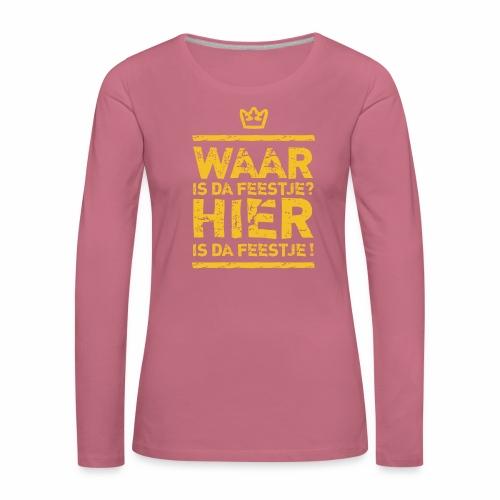Belgian Feestje - Women's Premium Longsleeve Shirt