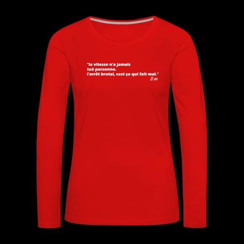 vitesse (blanc) - T-shirt manches longues Premium Femme