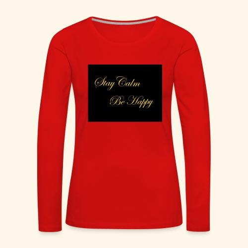 Be Happy - T-shirt manches longues Premium Femme