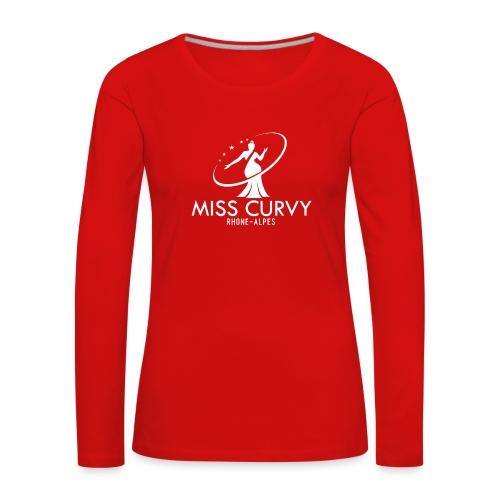 MISS CURVY Rhône Alpes blanc - T-shirt manches longues Premium Femme