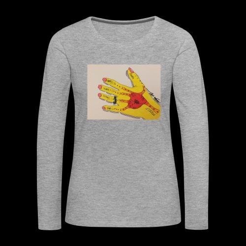 9D8D600F D04D 4BA7 B0EE 60442C72919B - Dame premium T-shirt med lange ærmer