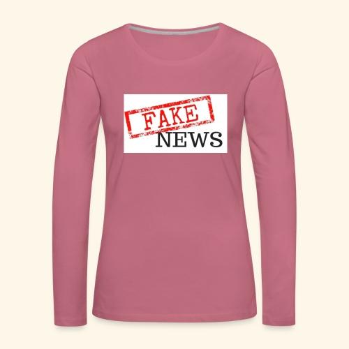 fake news - Women's Premium Longsleeve Shirt