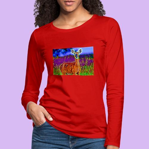 Cerbiatto con magici effetti - Maglietta Premium a manica lunga da donna