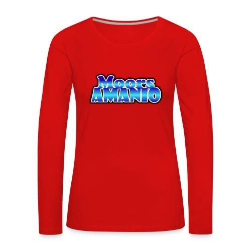 MoorsAmanioLogo - Vrouwen Premium shirt met lange mouwen