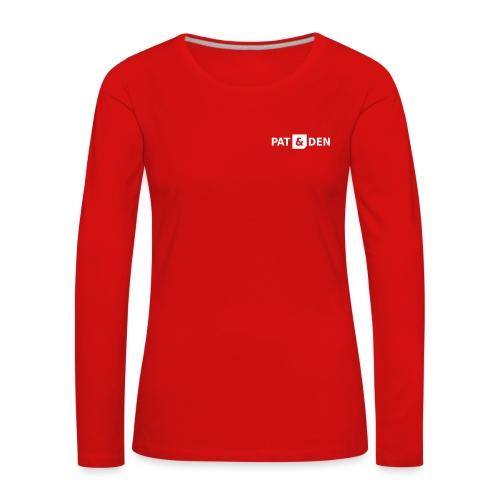 PAT&DEN Logo 0PD02 - Frauen Premium Langarmshirt