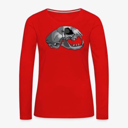 cat skull - Women's Premium Longsleeve Shirt