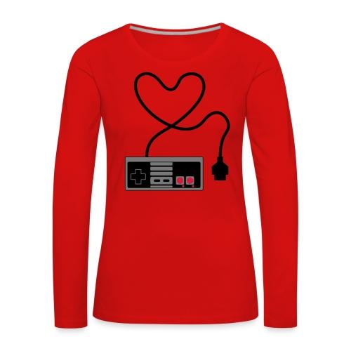 NES Controller Heart - Women's Premium Longsleeve Shirt