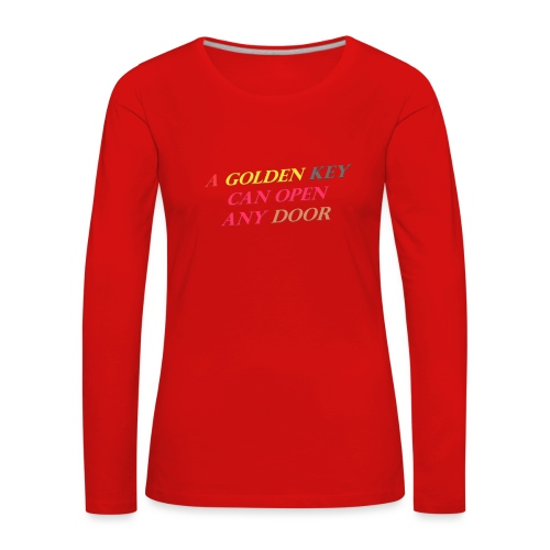 Say in English with 3D effect - Women's Premium Longsleeve Shirt