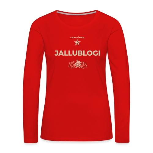 Jallublogi muki musta - Naisten premium pitkähihainen t-paita