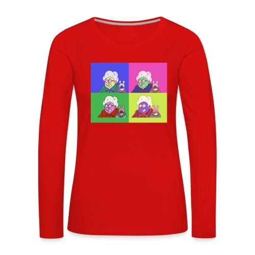 Polete facon warhol - T-shirt manches longues Premium Femme