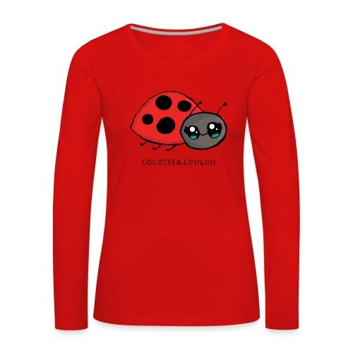 Pirouette la coccinelle - T-shirt manches longues Premium Femme