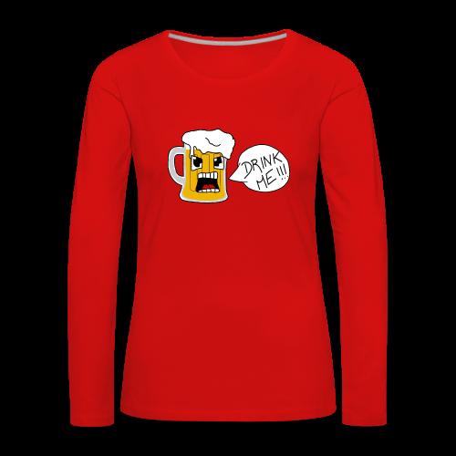 Bière - T-shirt manches longues Premium Femme