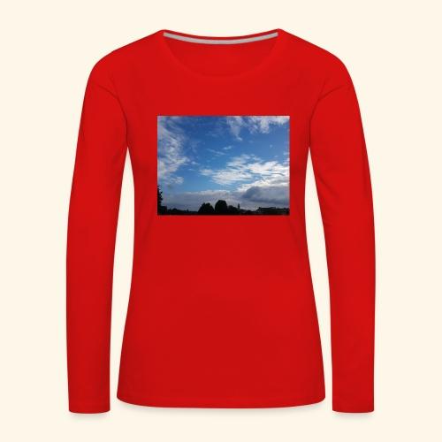 himmlisches Wolkenbild - Frauen Premium Langarmshirt