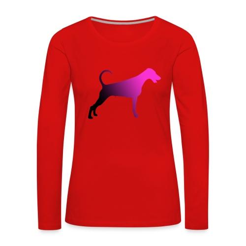 Dobermannfemnatpinkblack2 - Naisten premium pitkähihainen t-paita
